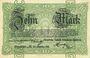 Banknotes Frankfurt am Main. Chemische Fabrik Griesheim - Elektron. Billet. 10 mark 25.10.1918