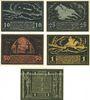 Banknotes Fränkisch-Crumbach. Hannöverische Stiftungen. Billets. 10, 25, 50 pf, 2 mk (2ex) 1.4.1921