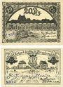 Banknotes Franzburg. Stadt. Billets. 20 pf, 25 pf (1921)