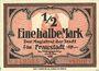 Banknotes Fraustadt (Wschowa, Pologne). Stadt. Billet. 1/2 mark (1917), série (Reihe) I