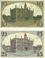 Banknotes Fraustadt (Wschowa, Pologne). Stadt. Billets. 10 pf, série (Reihe) II, 25 pf, série (Reihe) I