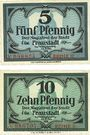 Banknotes Fraustadt (Wschowa, Pologne). Stadt. Billets. 5, 10 pf (1917), série (Reihe) II