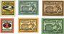 Banknotes Freiberg, Stadt, billets, 2 pf n. d.-30.6.1920, 5, 10 pf n.d.- 31.12.1920, 1,5,10 pf n.d. -31.9.1921