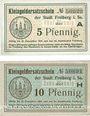Banknotes Freiberg. Stadt. Billets. 50 pf série A, 10 pf série H n. d. - 31.12.1918