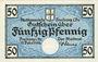 Banknotes Freiburg im Breisgau. Stadt. Billet. 50 pf 15.2.1919, série B