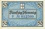 Banknotes Freiburg im Breisgau. Stadt. Billet. 50 pf 15.2.1919, série F