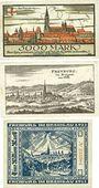 Banknotes Freiburg im Breisgau. Stadt. Billets. 5 000 mk 7.2.1923, 500 000 mk 8.8.1923, 1 million mk 25.8.1923