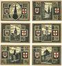 Banknotes Freiburg im Breisgau. Stadt. Série de 6 billets,. 50 pf sept 1921