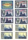 Banknotes Freiburg in Schlesien (Schwiedodzice Pologne) Stadt billets 10 pf, 25 pf (5ex) 50 pf (4ex) sept 1921
