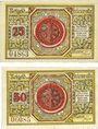 Banknotes Freienwalde (Chociwel, Pologne). Stadt. Billets. 25 pf, 50 pf 1920