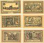 Banknotes Freienwalde (Chociwel, Pologne). Stadt. Série de 6 billets. 25 pf(2ex), 50 pf(4ex) (1922)