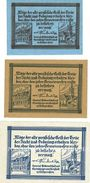 Banknotes Freystadt (Kisielice, Pologne). Stadt. Billets. 10 pf, 25 pf, 50 pf 1.12.1920