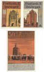 Banknotes Friedland. Stadt. Billets. 10, 25, 50 pf n.d. - 31.1.1922, Reutergeld