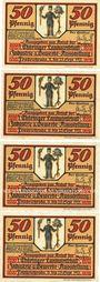 Banknotes Friedrichroda. Stadt. Billets. 50 pf (4ex) 1921, Thüringer Landwirschaft-Industrie...