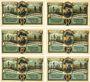 Banknotes Friedrichsbrunn. Gemeinde. Billets. 25 pf (2ex), 50 pf (2ex), 75 pf (2ex) 15.10.1921