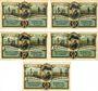 Banknotes Friedrichsbrunn. Gemeinde. Billets. 25 pf (2ex), 50 pf, 75 pf (2ex) 15.10.1921