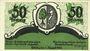 Banknotes Friedrichshafen. Stadt. Billet. 50 pf n.d. - 1.8.1920, réimpression