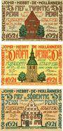 Banknotes Friedrichstadt. Stadt. Billets. 25 pf, 50 pf, 75 pf 27-28.8.1921
