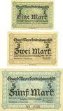 Banknotes Friedrichswerth. Eduard Meyer. Domäne. Billets. 1 mk, 2 mk, 5 mk 1.12.1918