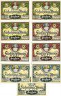 Banknotes Friesack. Stadt. Série de 8 billets. 25 pf (3ex), 50 pf (3ex), 75 pf (3ex) nov. 1921