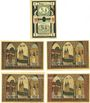 Banknotes Frose. Gemeinde. Billets. 10 (= 2 x 5) pf n.d., 50 pf (4ex) 15.3.1921