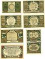 Banknotes Frose. Gemeinde. Billets. 25, 50 (3ex), 75 pf, 1 mark 27.6.1921, 75 pf (1922)