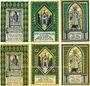Banknotes Frücht bei Ems. Gemeinde. 2 séries de billets. 25 (2ex), 50 (2ex), 75 (2ex) pf 1.1.1922