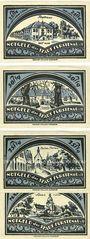 Banknotes Fürstenau. Stadt. Série de 4 billets. 25, 50, 75 pf, 1 mark 6.12.1921