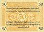 Banknotes Fürstenberg. Stadt. Billet. 50 pfennig 1.7.1920