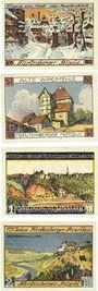 Banknotes Fürstenberger a. d. Weser. Gemeinde. Série de 4 billets. 50, 75 pf, 1, 2 mark 1.12.1921