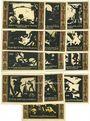 Banknotes Fürstenwalde. Stadt. Billets. 20 pf (3ex), 25 pf (3ex), 50 pf (3ex), 75 pf (3ex), 1 mark 1921