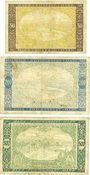 Banknotes Gaggenau, Forbach & Gernsbach. Städte. Billets. 50 mark, 200 mark, 500 mark oct. 1922