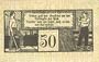 Banknotes Gardelegen. Kaufmännischer Verein. Billet. 50 pf  1.5.1920, 2e émission