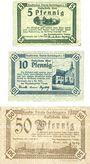 Banknotes Gardelegen. Kaufmännischer Verein. Billets. 5 pf, 10 pf, 50 pf  1.5.1920, 2e émission