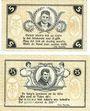Banknotes Gardelegen. Kaufmännischer Verein. Billets. 5 pf, 25 pf 1.1.1921