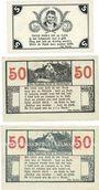 Banknotes Gardelegen. Kaufmännischer Verein. Billets. 5 pf, 50 pf (2ex) 1.1.1921