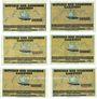 Banknotes Garstedt. Gemeinde. Billets. 25 pf (2ex), 50 pf (2ex), 75 pf (2ex) (1921)
