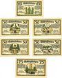 Banknotes Gatersleben. Gemeinde. Billets. 25 pf, 50 pf (4ex), 75 pf 30.7.1921