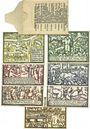 Banknotes Gebesee. Stadt. Billets. 10 pf, 25 pf, 50 pf (3ex), 75 pf, 1 mark 14?10.1921