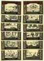 Banknotes Geestemünde. Institut für Seefischerei. Série de 12 billets. 50 pf n. d. - 24.11.1921