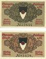 Banknotes Geislingen a. Steige. Stadt. Billets. 25 pf, 2e émission, 50 pf, 4e émission oct 1918