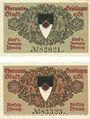 Banknotes Geislingen a. Steige. Stadt. Billets. 25 pf, 50 pf, 4e émission oct 1918