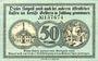 Banknotes Geldern. Stadt. Billet. 50 pf 9.11.1918, papier blanc