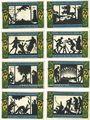Banknotes Geldern. Stadt. Série de 8 billets. 75 pfennig 4.11.1921