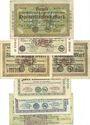 Banknotes Gelsenkirchen. Stadt und Landkreis. Billets. 100000, 5 millions (3ex), 2, 20, 500 millions mk 1923