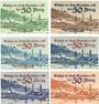 Banknotes Gemünden a. M. Stadt. Billets. 50 pf (1918), (1919), (1920) 2ex, 1920, 1921, Réimpressions