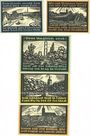 Banknotes Genthin. Stadt. Série de 5 billets. 25 pf, 50 pf, 1 mark, 2 mark, 5 mark 1.7.1921