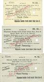 Banknotes Gera. Allgemeine Deutsche Credit-Anstalt. Filiale Gera. Billets. 10, 20, 50 mark 14.11.1918