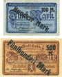 Banknotes Gera. Stadt. Billets. 100 mark / 5 mark, 500 mark / 20 mark 25 sept 1922