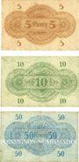 Banknotes Gera. Stadt. Billets. 5 pf, 10 pf, 50 pf 1917